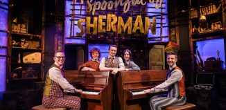 The cast of A Spoonful of Sherman at Greenwich Theatre, London. Photo: Matt Martin