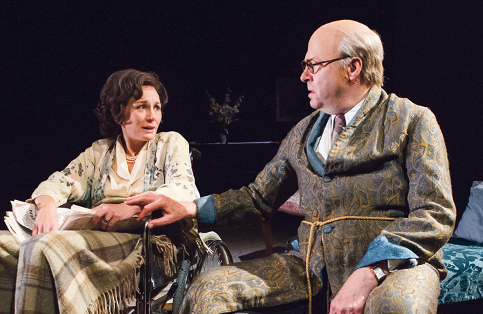 Nancy Carroll and Roger Allam in The Moderate Soprano at Hampstead Theatre. Photo: Tristram Kenton