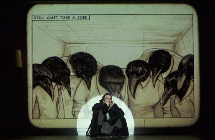 Cillian Murphy in Grief is the Thing With Feathers at O'Reilly Theatre, Dublin. Photo: Colm Hogan