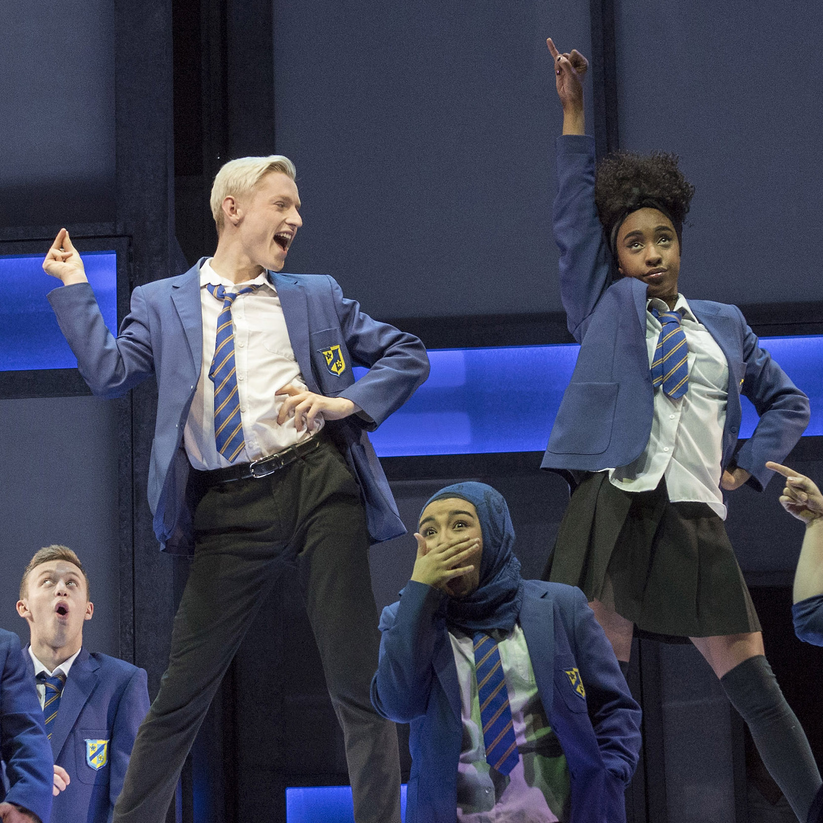Jamie McCrea and cast in Everybody's Talking About Jamie. Photo: Alastair Muir