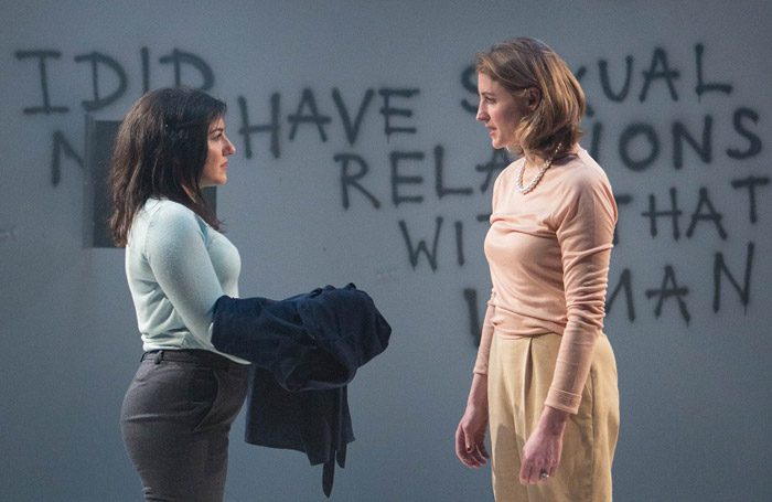 Daniella Isaacs and Flora Montgomery in Devil With the Blue Dress at the Bunker, London. Photo: Helen Murray