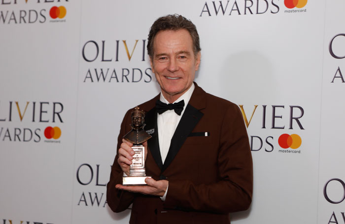 Bryan Cranston at the Olivier Awards 2018. Photo: Pamela Raith