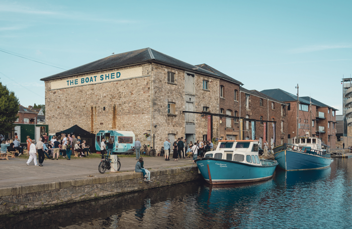 Bike Shed Theatre's crowdfunded quayside pop-up venue Boat Shed. Photo: Benjamin Barley