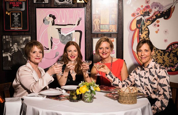 Director Marianne Elliott (third from left) with stars of Company Patti LuPone, Rosalie Craig, and Mel Giedroyc