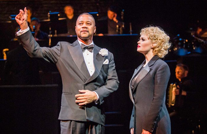 Cuba Gooding Jr and Sarah Soetaert in Chicago at Phoenix Theatre, London. Photo: Tristram Kenton