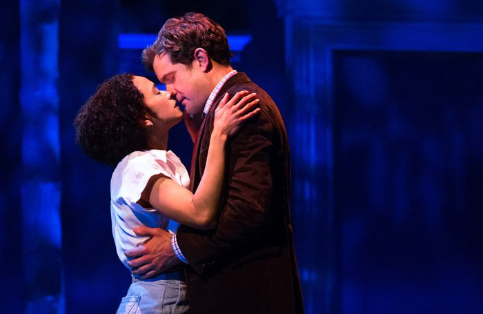Lauren Ridloff and Joshua Jackson in Children of a Lesser God at Studio 54, New York. Photo: Matthew Murphy