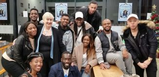 Teresa Early and some of the Theatre Peckham Alumni