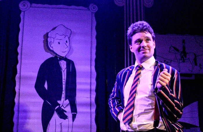Benjamin Alborough in Cream Tea and Incest at the Hope Theatre, London. Photo: Olivia Rose Deane