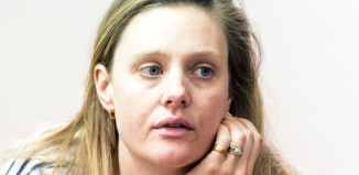 Romola Garai in rehearsals for The Writer.