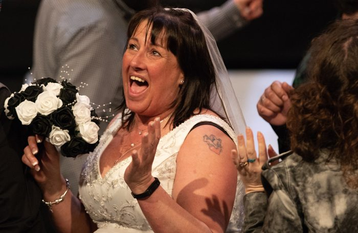 Louise Webster as Gemma, the bride, in Tell Me the Truth About Love. Photo: Rey Trombetta