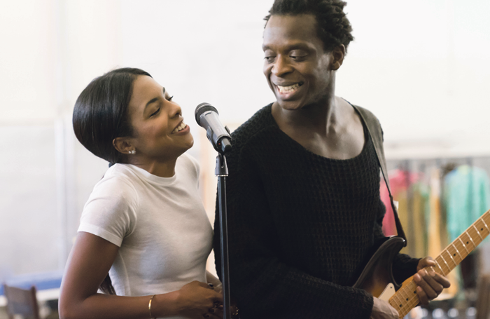 Adrienne Warren, who plays the title role, and Kobna Holdbrook-Smith, who plays Ike Turner, in rehearsals for the Tina Turner musical. Photo: Johan Persson