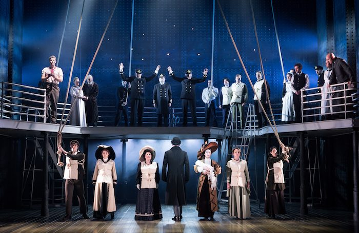 The cast of Titanic at the Mayflower Theatre, Southampton. Photo: S Rylander