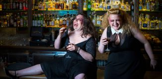 Maeve Marsden and Libby Wood in Mother's Ruin – A Cabaret About Gin. Photo: Patrick Boland