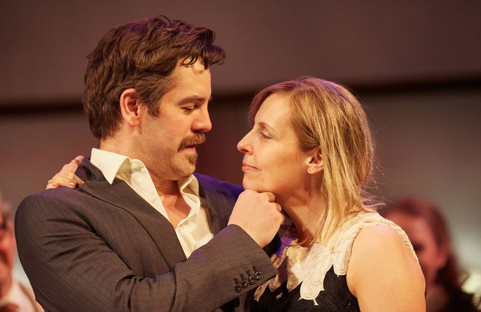 John Hopkins and Mel Giedroyc in Much Ado About Nothing at the Rose Theatre. Photo: Mark Douet