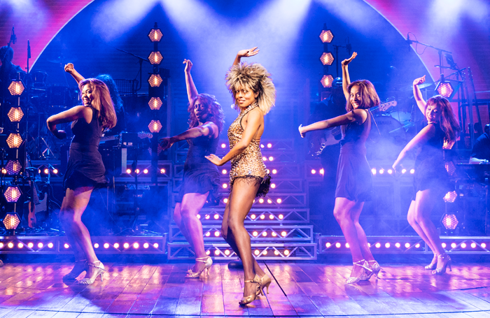 Adrienne Warren (centre) in Tina: The Tina Turner Musical. Photo: Manuel Harlan