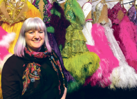 Terry Herfield with costumes backstage strictly ballroom