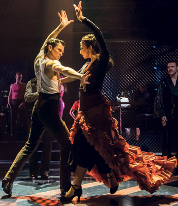 Jonny Labey and Zizi Strallen in Strictly Ballroom The Musical. Photo: Johan Persson