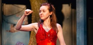 Evelyn Hoskins in Mayfly at Orange Tree Theatre, London. Photo: Helen Murray