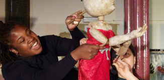 Work by Brighton Puppetry School's intensive Summer School participants. Photo: Brighton Puppetry School