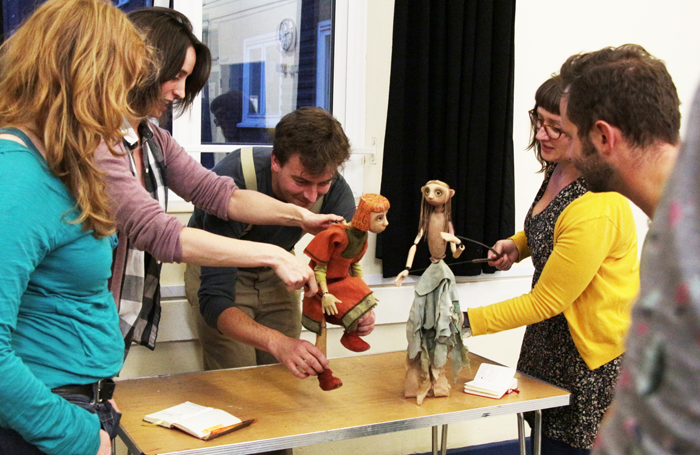 Puppetry workshop at Little Angel Studios. Photo: Tom Crame