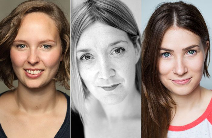 Theatr Clwyd writers-in-residence Melangell Dolma, Carri Munn and Mari Izzard