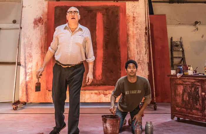 Alfred Molina and Alfred Enoch in rehearsals for Red. Photo: Marc Brenner