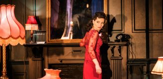 Kate Fleetwood in Absolute Hell at the National Theatre, London. Photo: Johan Persson
