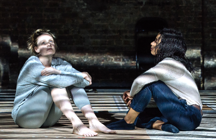Romola Garai and Lara Rossi in The Writer at the Almeida. Photo: Manuel Harlan