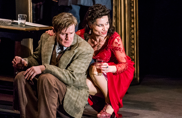 Charles Edwards and Kate Fleetwood in Absolute Hell at the National Theatre. Photo: Tristram Kenton