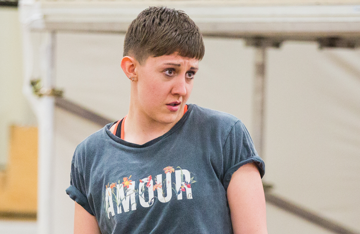 Charlotte Josephine in rehearsals for Romeo and Juliet. Photo: Ellie Merridale/RSC