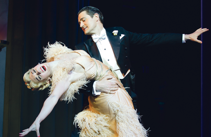 Summer Strallen and Tom Chambers in Top Hat at the Aldwych Theatre, London, in 2011. Photo: Tristram Kenton