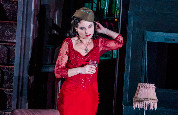 Kate Fleetwood in Absolute Hell at the National Theatre. Photo: Tristram Kenton