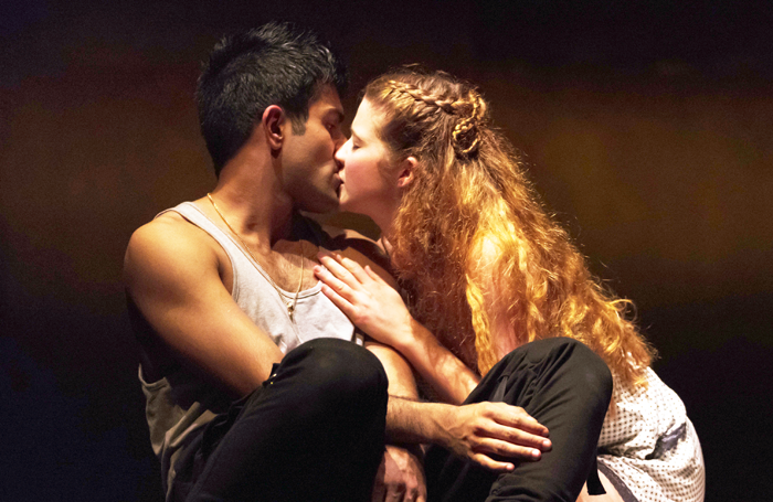 Bally Gill and Karen Fishwick in Romeo and Juliet at the Royal Shakespeare Theatre. Photo: Topher McGrillis/RSC