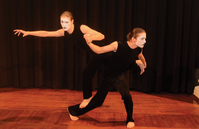 Pavlo Vyshnevskyi and Maksym Lytvynenko, students of the Kiev Municipal Academy of Circus and Variety Arts, pantomime department, perform Our World for WMO