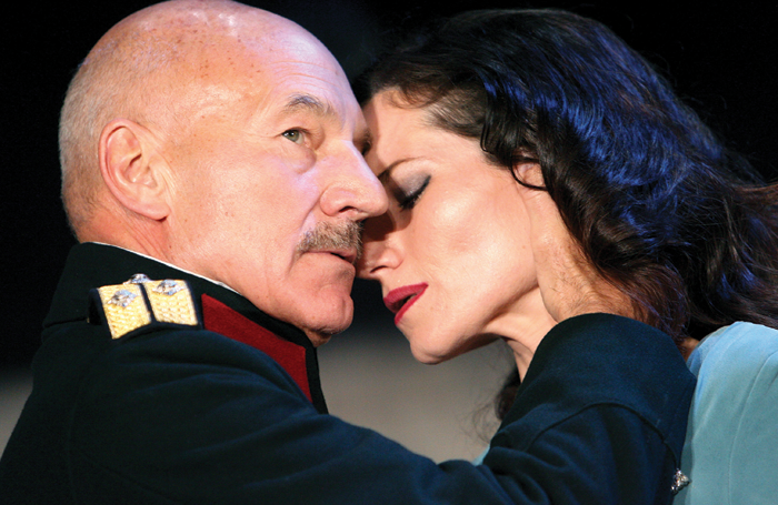 Fleetwood's Tony-nominated performance as Lady Macbeth opposite Patrick Stewart in Macbeth in 2007. Photo: Tristram Kento