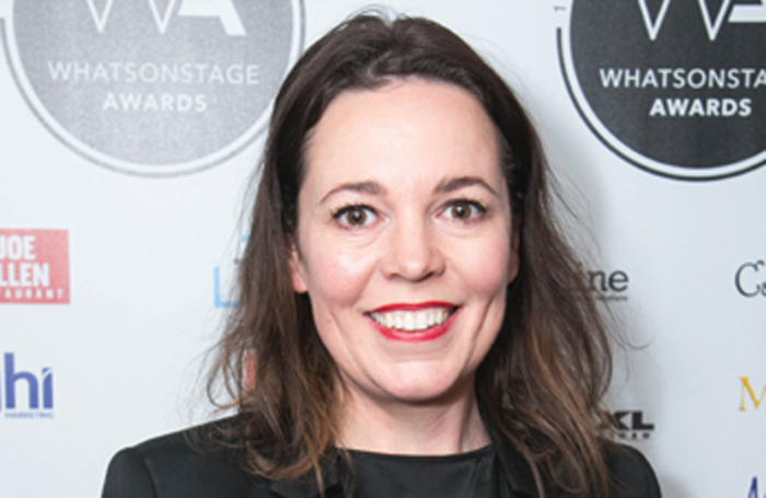 Olivia Coleman at the WhatsOnStage Awards 2018.