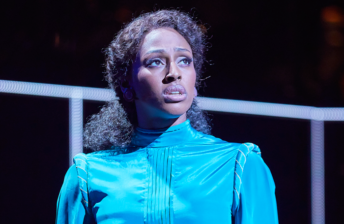 Alexandra Burke in Chess at the London Coliseum. Photo: BrinkhoffMogenburg