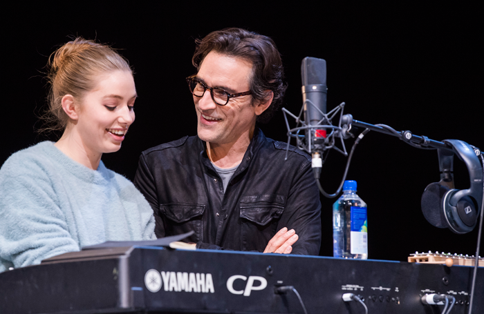 Seana Kerslake and Ben Chaplin in Mood Music at the Old Vic. Photo: Tristram Kenton