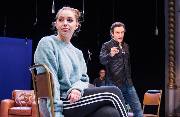 Seana Kerslake and Ben Chaplin in Mood Music. Photo: Tristram Kenton