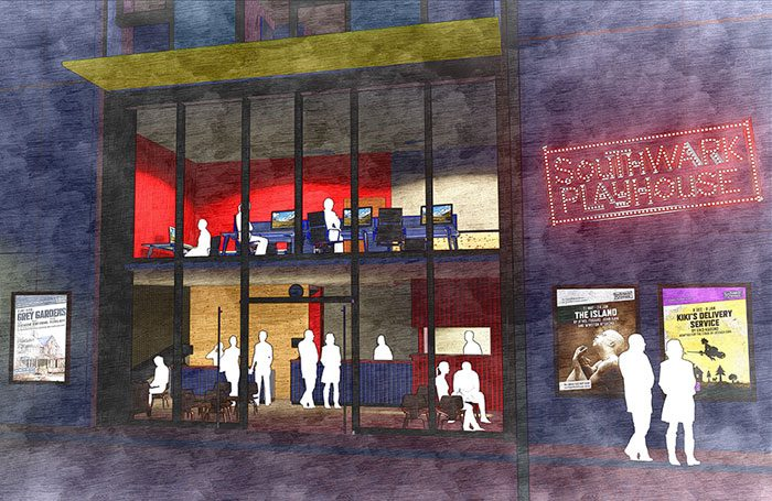 Artist's impression of the new Southwark Playhouse venue at Elephant and Castle