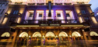 Prince Edward Theatre, London front of house. Photo: Helen Maybanks