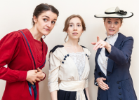 Lauren Chinery, Emily Langham and Nova Skipp will star in the Finborough's production of The Biograph Girl. Photo: Lidia Crisafulli