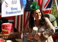 Lesley Joseph and the Young Frankenstein cast took home the prize at this year's West End Bake Off. Photo: Mark Clay