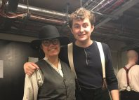 Everyman artistic director Gemma Bodinetz backstage during Paint Your Wagon with George Francis