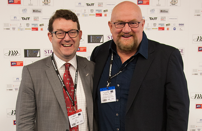 Robin Townley, chief executive of the Association of British Theatre Technicians and Howard Panter, joint chief executive and creative director of Trafalgar Entertainment Group. Photo: Origin8Photography