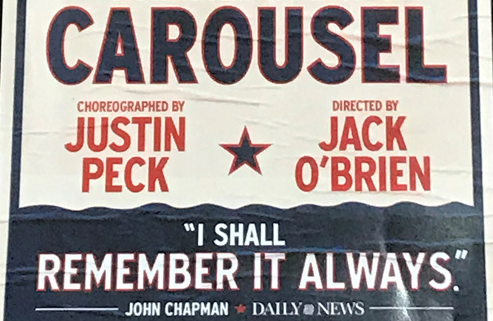 Carousel poster. Photo: Richard Jordan