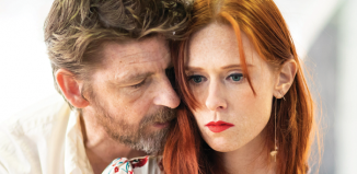 Paul Anderson and Audrey Fleurot in rehearsals for Tartuffe. Photo: Helen Maybanks