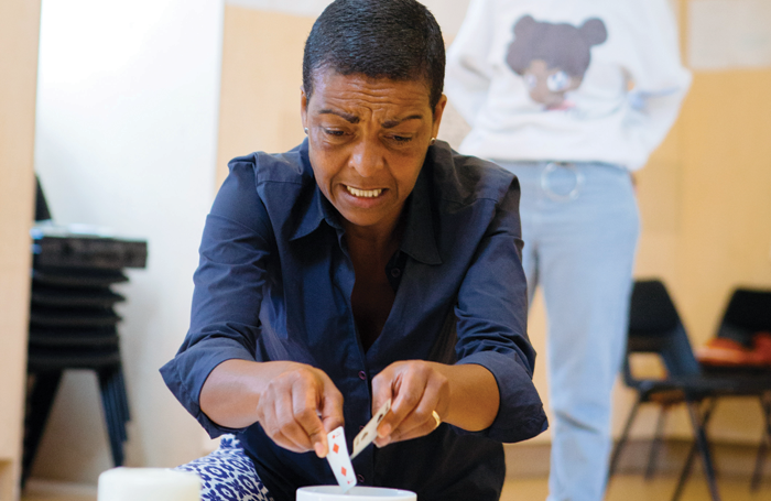 Adjoa Andoh in rehearsals for Leave Taking. Photo: Helen Murray