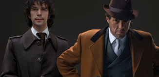 Ben Whishaw and Hugh Grant in A Very English Scandal. Photo: BBC/Blueprint/Amazon/Sony