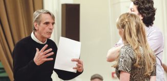 Opera enthusiast Jeremy Irons (left) recently taught a class at Associated Studios. Photo: Andreas Grieger